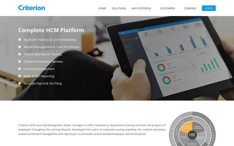 Learning management | Criterion