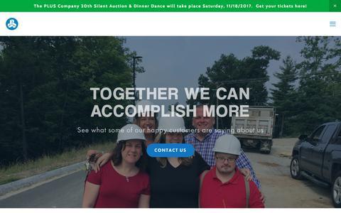 Screenshot of Testimonials Page pluscompany.org - Testimonials — PLUS Company, Inc. - captured Nov. 16, 2017