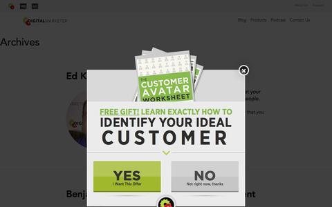 Screenshot of Developers Page digitalmarketer.com - Testimonials Archive - DigitalMarketer - captured Nov. 14, 2016