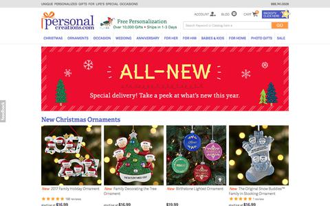 Shop New Personalized Christmas Ornaments from Personal Creations