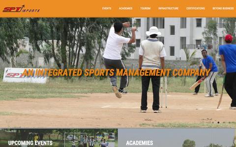 Screenshot of Home Page sptindia.com - SPT INDIA - captured Jan. 27, 2015