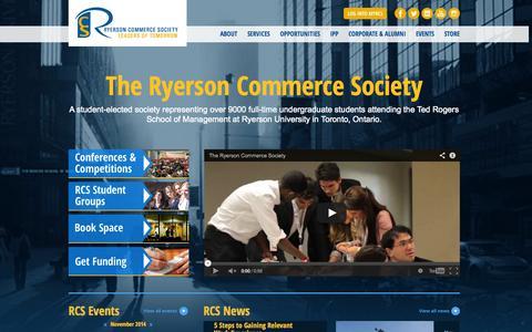 Screenshot of Login Page rcsonline.ca - Home | Ryerson Commerce Society - captured Nov. 4, 2014