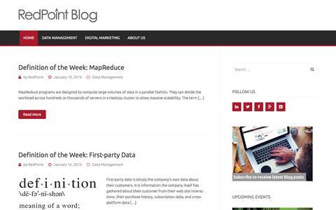 Screenshot of Blog redpoint.net - RedPoint Global Blog - captured Jan. 20, 2016