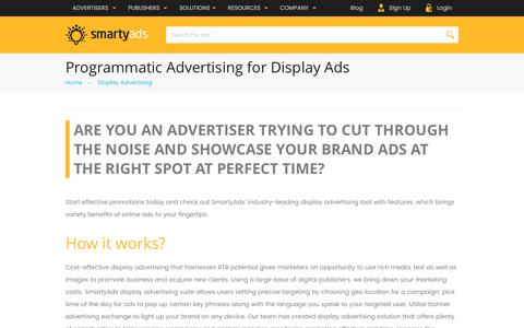 Screenshot of smartyads.com - Programmatic Display Advertising Platform — SmartyAds - captured May 31, 2017