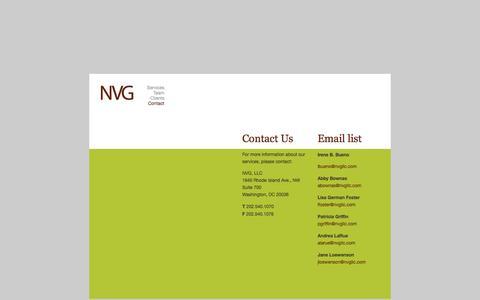 Screenshot of Contact Page nvgllc.com - Contact : NVG, LLC - captured Aug. 15, 2016