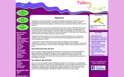 Screenshot of About Page talkingchild.com - About Us - captured Oct. 7, 2014