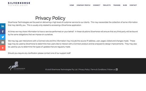 Privacy Policy • Silverhorse Technologies