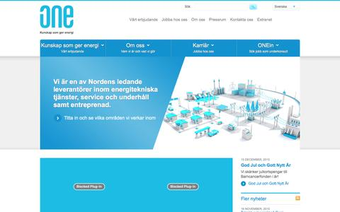 Screenshot of Home Page one-nordic.se - Start - ONE Nordic - captured Jan. 22, 2016