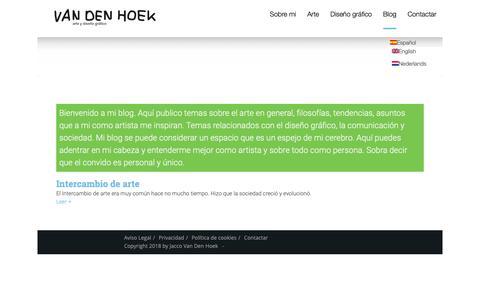 Screenshot of Blog jaccovandenhoek.com - blog internacional - Jacco van den Hoek - captured Sept. 30, 2018