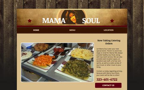 Screenshot of Home Page mamasouls.com - mamasouls - captured Oct. 4, 2014