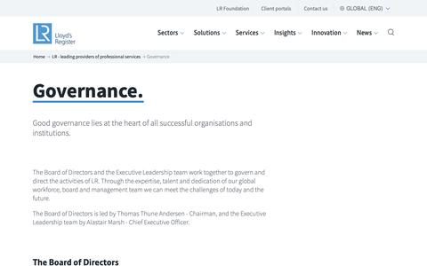Screenshot of Team Page lr.org - Successful organisations & institutions is from good governance-lr.org - captured June 4, 2019