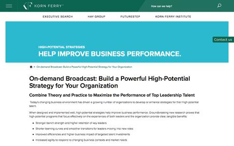 On-demand Broadcast: Build a Powerful High-Potential Strategy for Your Organization
