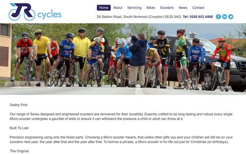Screenshot of Press Page jrcycles.co.uk - News - captured Oct. 2, 2018