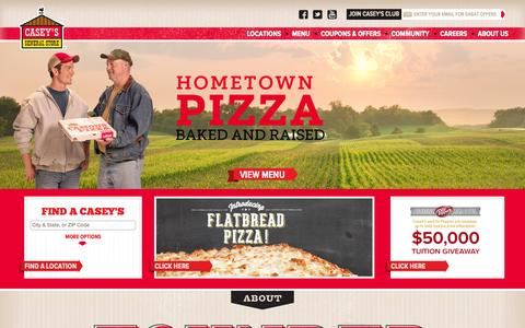 Screenshot of Home Page caseys.com - Casey's Home Page | Casey's General Store - captured Oct. 24, 2015