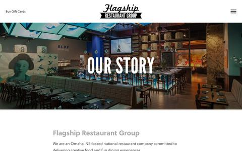 Screenshot of About Page flagshiprestaurantgroup.com - Our Story - Flagship Restaurant Group - captured June 6, 2017