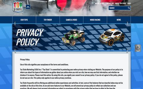 Screenshot of Privacy Page toystate.com - Privacy Policy - Toy State - captured Feb. 27, 2016