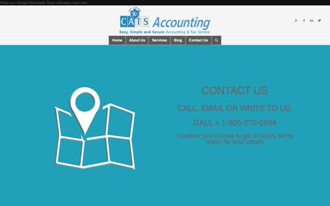 Screenshot of Contact Page canats.ca - Contact Us - C.A.T.S Accounting - captured Jan. 24, 2016