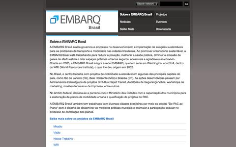 Screenshot of About Page embarqbrasil.org - Sobre a EMBARQ Brasil | EMBARQ Brasil - captured Oct. 31, 2014