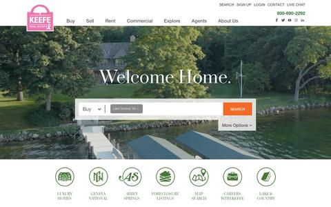 Screenshot of Home Page keeferealestate.com - Keefe Real Estate - Buy or Sell Your Home with Confidence - captured Oct. 14, 2018