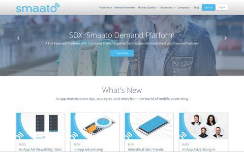 Screenshot of smaato.com - Homepage New - Smaato - captured July 5, 2019