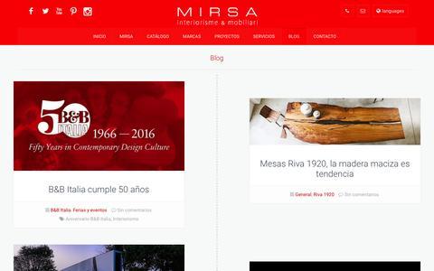 Screenshot of Blog mirsa.es - Blog   MIRSA interiorismo & mobiliario – Muebles, cocinas y baños - captured Nov. 29, 2016