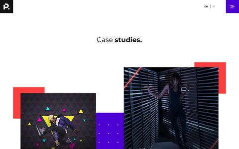 Screenshot of Case Studies Page playground.it - PLAYGROUND | digital agency - Case History - captured Nov. 9, 2018