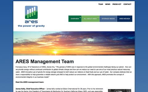 Screenshot of Team Page aresnorthamerica.com - about ARES team North America - Ares North America - captured July 28, 2018