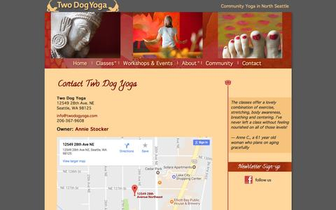 Screenshot of Contact Page Maps & Directions Page twodogyoga.com - Contact Two Dog Yoga - captured April 13, 2017