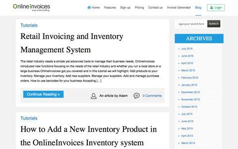 Screenshot of Blog onlineinvoices.com - Online Billing Software | Online Invoicing System - captured Aug. 12, 2016
