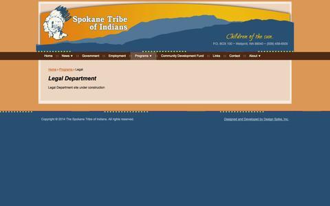 Screenshot of Terms Page spokanetribe.com - Legal Department   Spokane Tribe - captured Oct. 6, 2014
