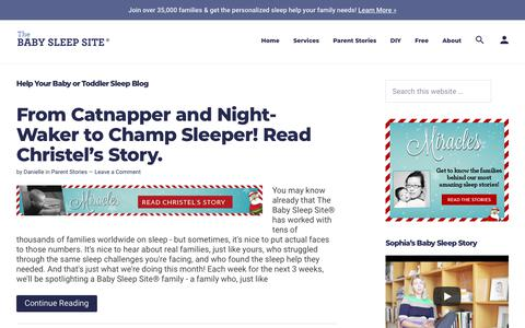 Help Your Baby or Toddler Sleep Blog | The Baby Sleep Site - Baby / Toddler Sleep Consultants