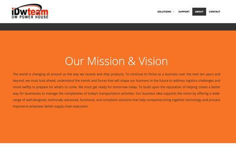 Screenshot of About Page idwteam.com - IDWTEAM - captured Oct. 13, 2018