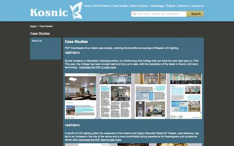 Screenshot of Case Studies Page kosnic.com - Kosnic - captured Oct. 27, 2014