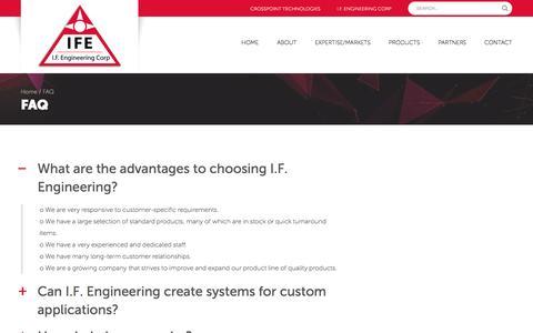 Screenshot of FAQ Page ifengineering.com - » FAQ - captured May 25, 2017
