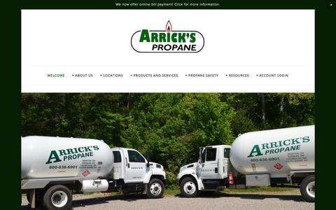 Screenshot of Home Page arrickspropane.com - Arrick's Propane - captured May 30, 2017