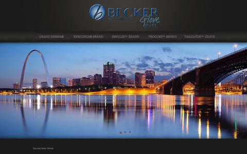 Screenshot of Home Page beckerglove.com - Becker Glove International St Louis, MO   Established 1922 - captured Oct. 5, 2014