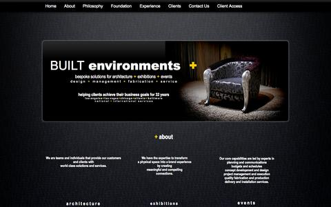 Screenshot of About Page built-environments-plus.com - BUILT environments plus - captured Sept. 30, 2014