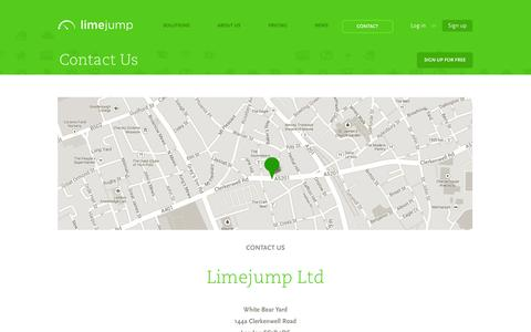 Screenshot of Contact Page limejump.com - Contact Us | Limejump - captured Oct. 2, 2014