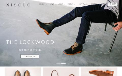 Screenshot of Home Page nisolo.com - Handmade Leather Shoes, Chukka Boots & Bags | Nisolo - captured Jan. 19, 2016