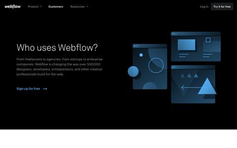 Webflow says...
