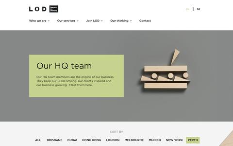 Screenshot of Team Page lodlaw.com - Flexible legal services from Lawyers on Demand - Our HQ team | LOD - captured July 11, 2018