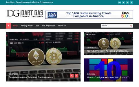 Screenshot of Home Page dartgas.com - Dart Gas   Latest insights - captured Oct. 7, 2018