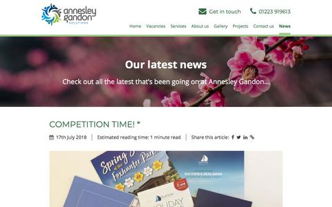 Screenshot of Press Page annesleygandon.co.uk - Our latest news | Annesley Gandon - captured July 30, 2018