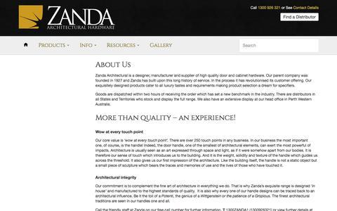 About us – Zanda Architectural Hardware