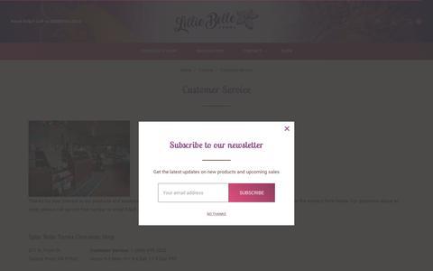 Screenshot of Support Page lilliebellefarms.com - Contact Lillie Belle Farms - captured Dec. 8, 2018