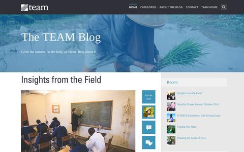 Screenshot of Blog team.org - TEAM | Home - captured Oct. 7, 2014