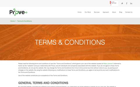 Screenshot of Terms Page prove.it - Terms & Conditions | Prove.it - captured Dec. 16, 2018