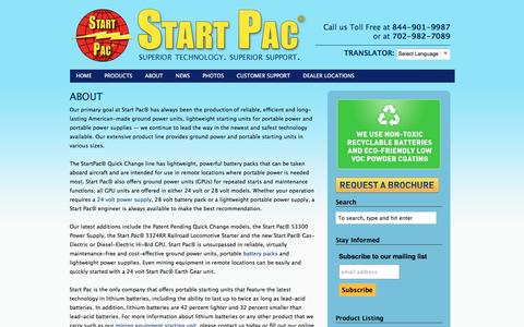 Screenshot of About Page startpac.com - ABOUT | - captured Aug. 16, 2016