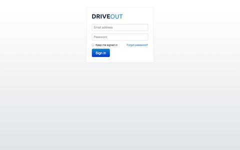 Screenshot of Login Page driveout.com - DriveOut | Sign In - captured Sept. 30, 2014