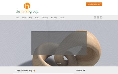 Screenshot of Home Page thehorangroup.com - The Horan Group Building Inclusive and Engaged Work Environments | The Horan Group - captured Aug. 15, 2015
